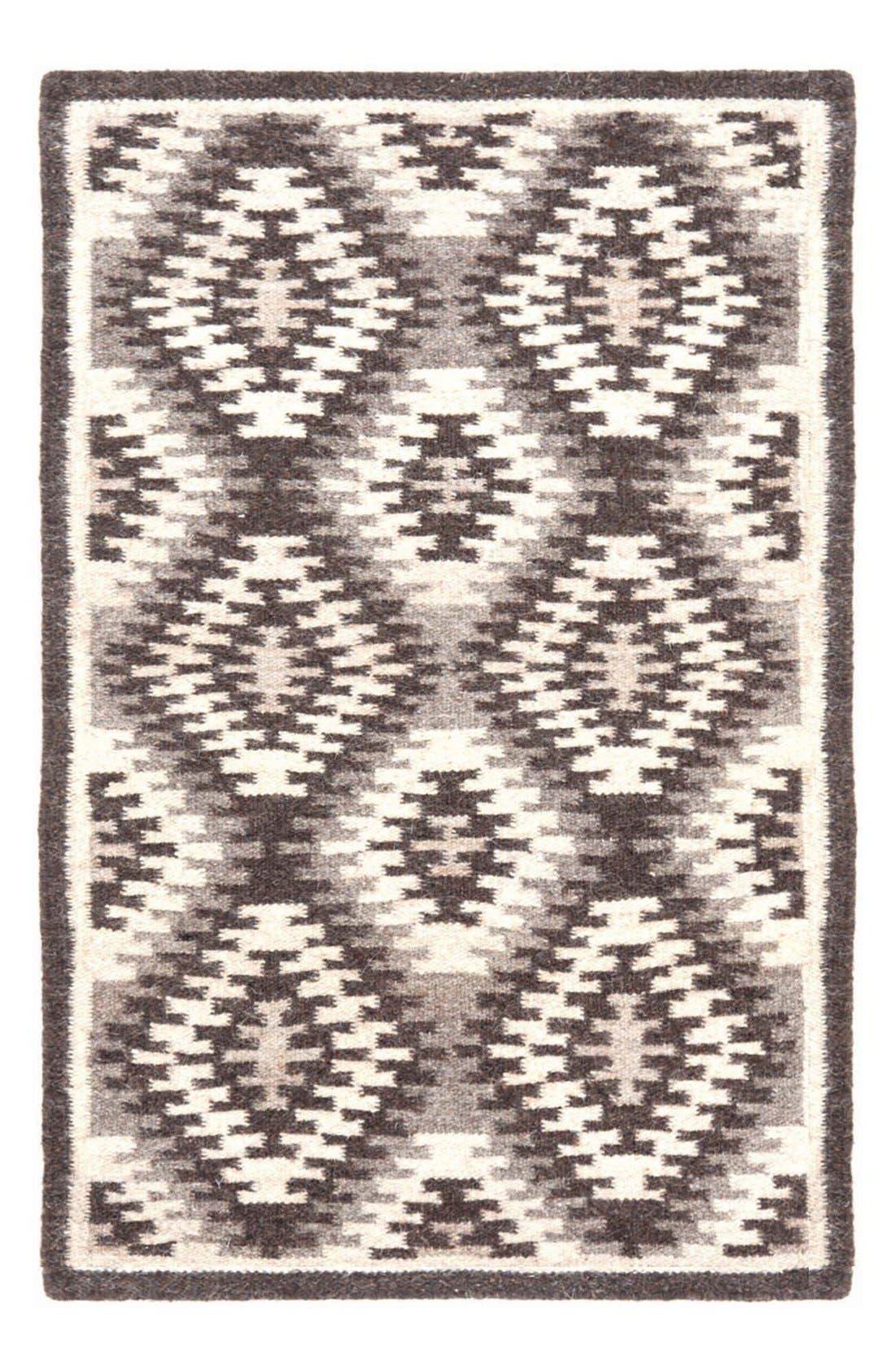 DASH & ALBERT 'Nordic Kilim' Wool Blend Rug