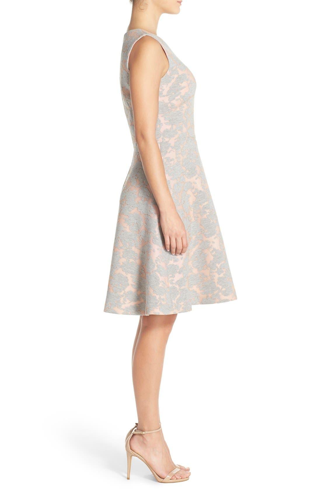 Alternate Image 3  - Maggy London Burnout Jersey Fit & Flare Dress (Regular & Petite)