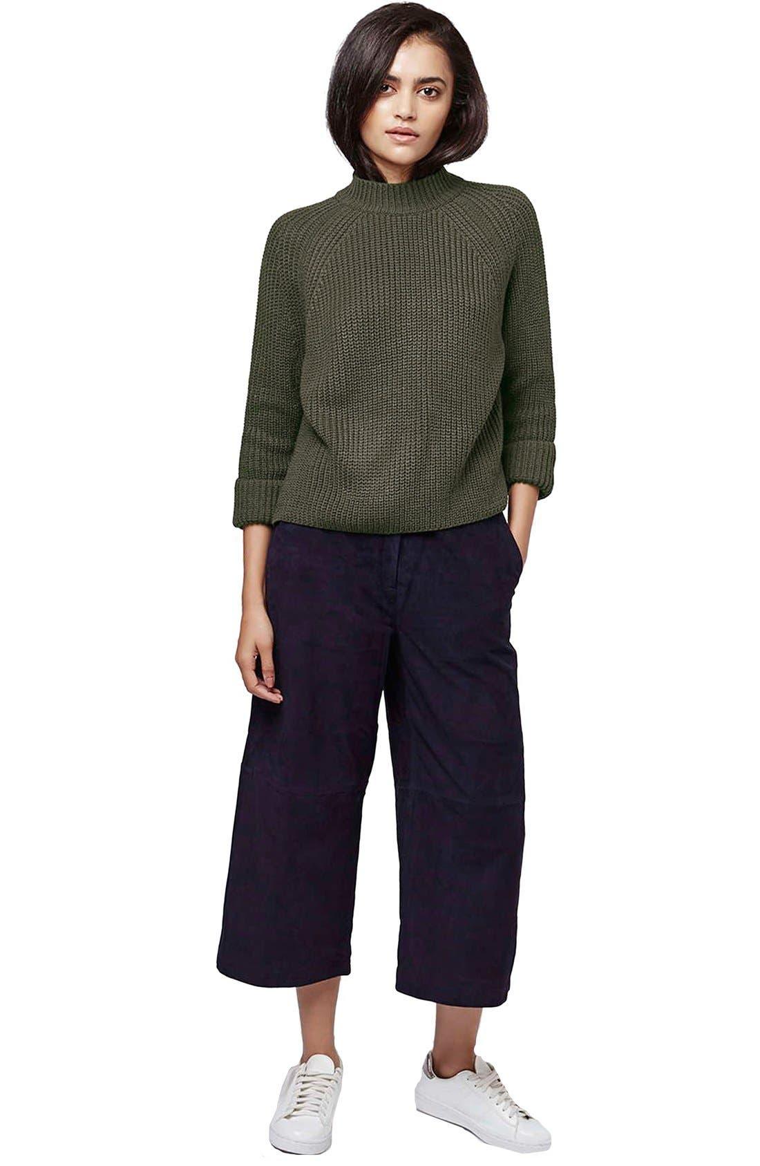 Alternate Image 2  - Topshop Mock Neck Raglan Sweater