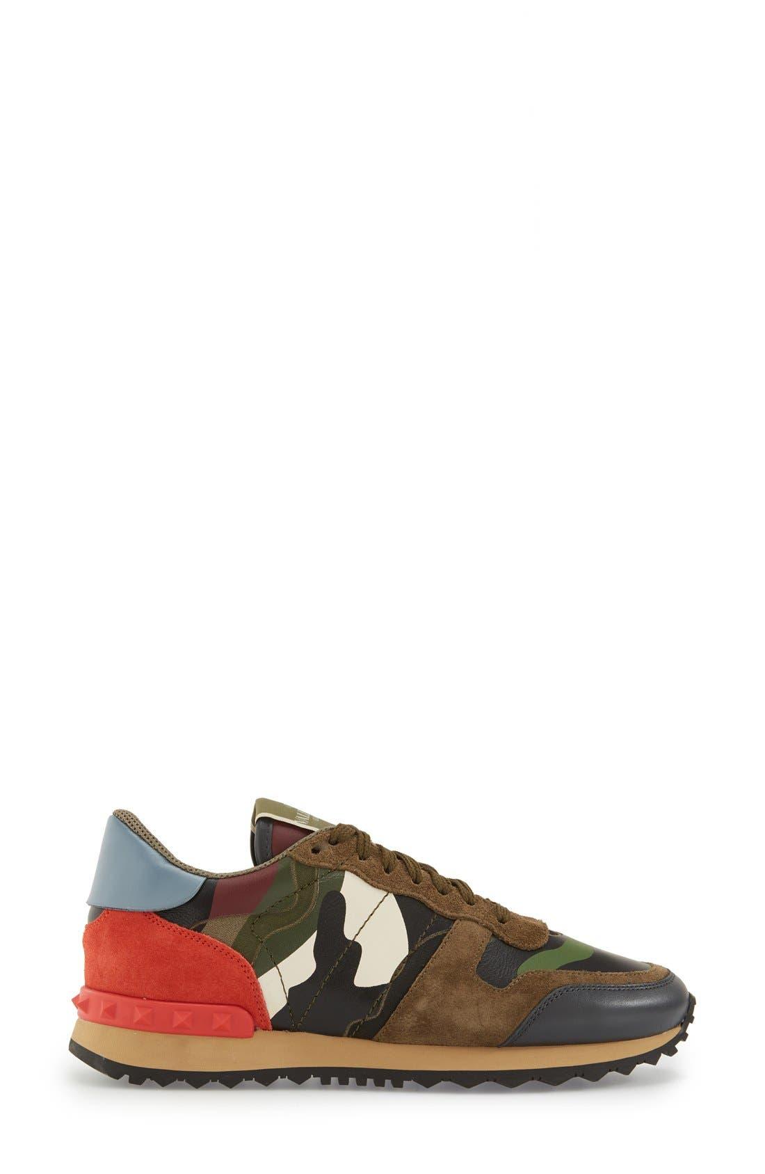 Alternate Image 4  - Valentino Rockstud Camo Sneaker (Women)