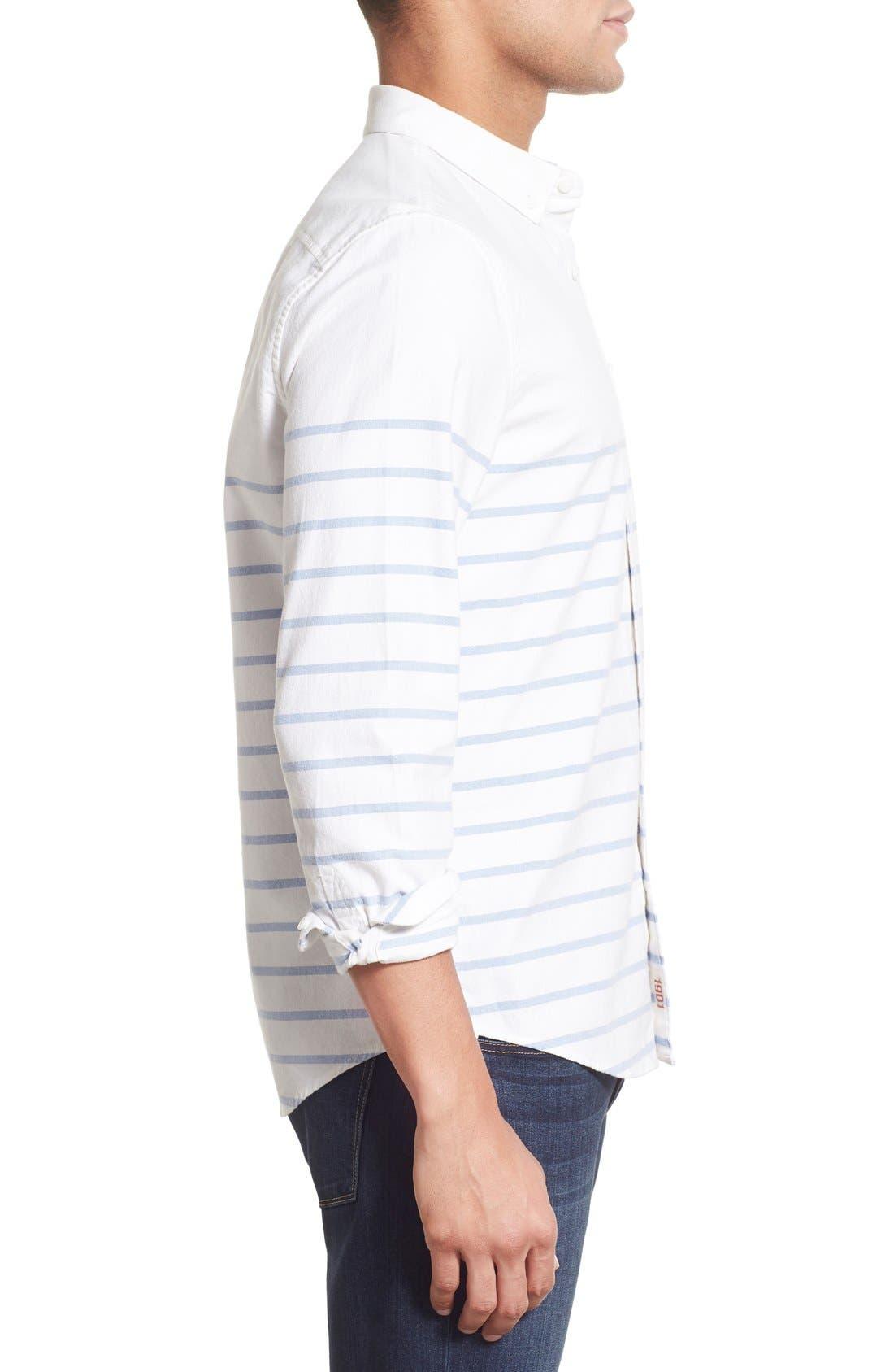 Alternate Image 3  - 1901 'La Conner' Trim Fit Stripe Print Woven Shirt