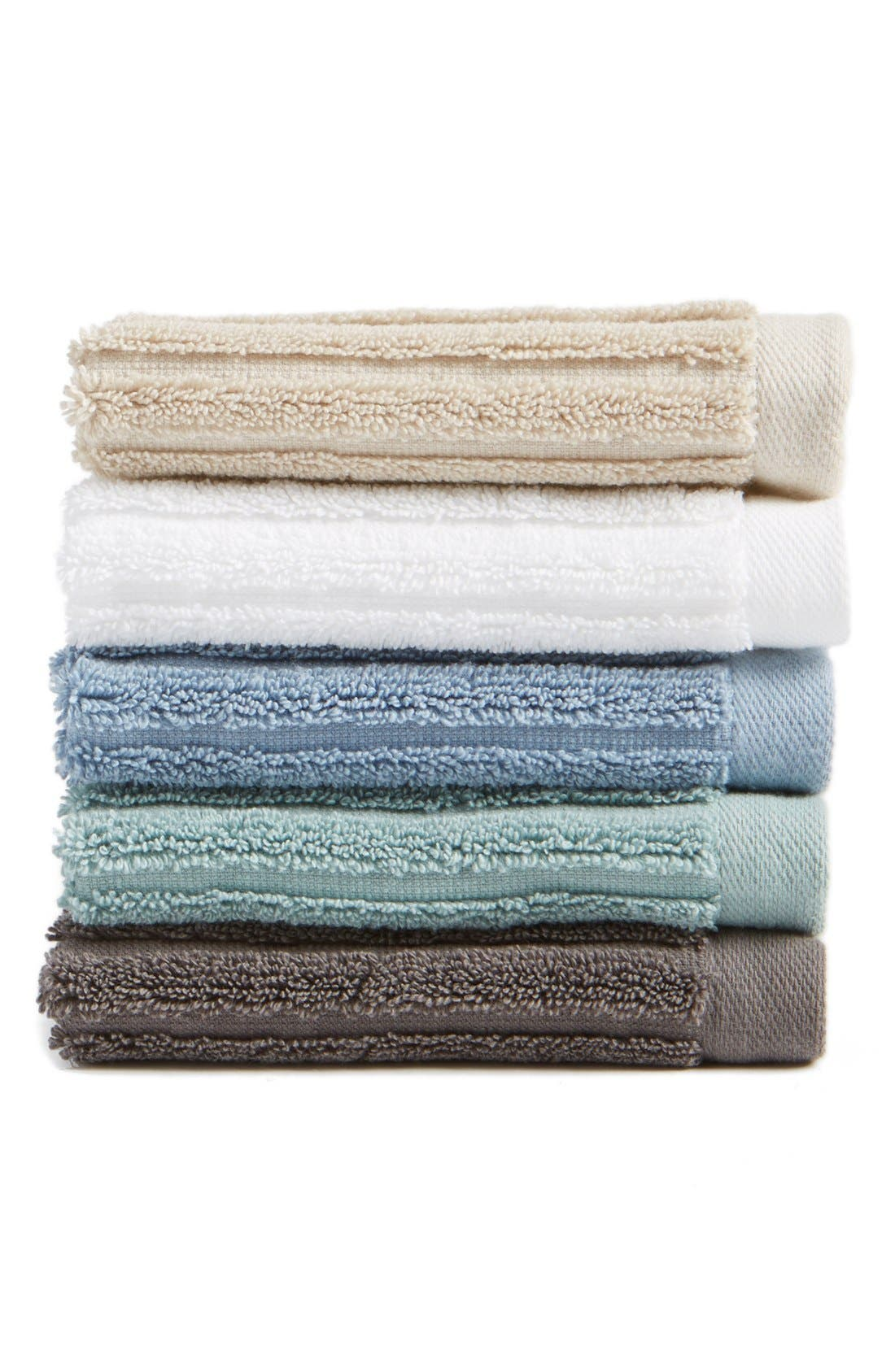 Alternate Image 1 Selected - Nordstrom at Home 'Modern Rib' Wash Towel (2 for $12)