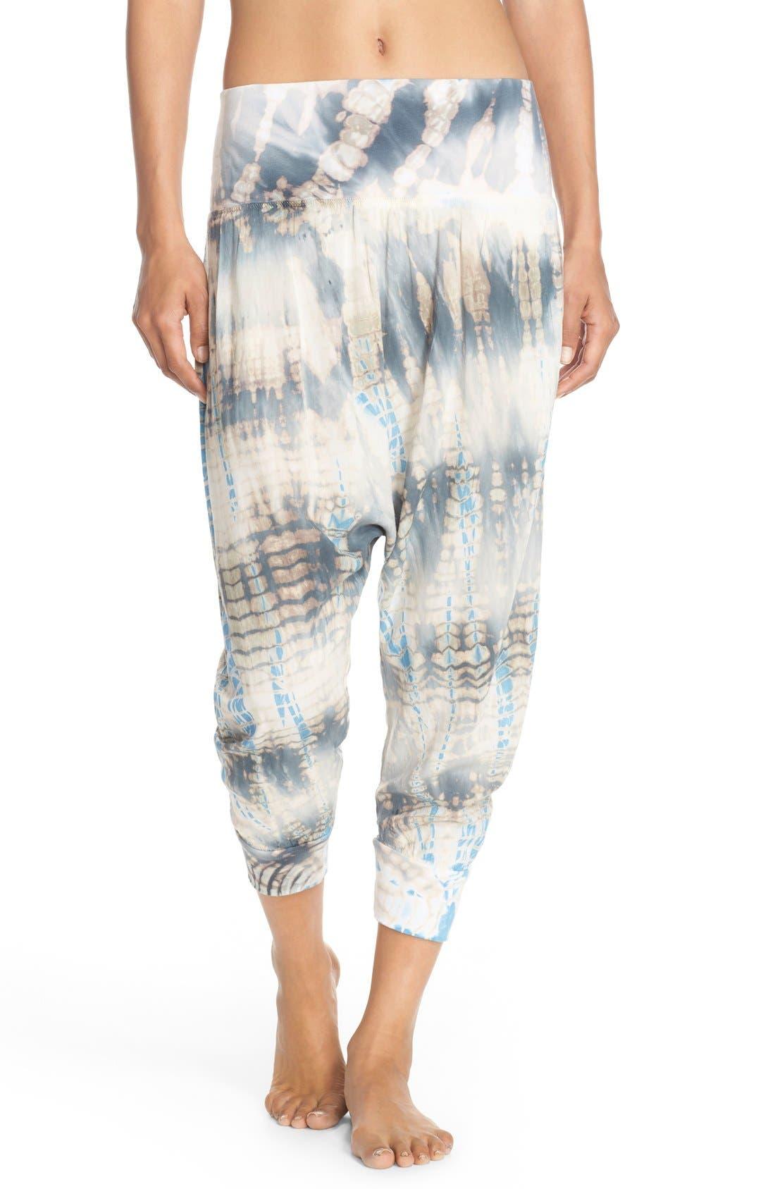 Main Image - Hard Tail Roll Waist Crop Harem Pants