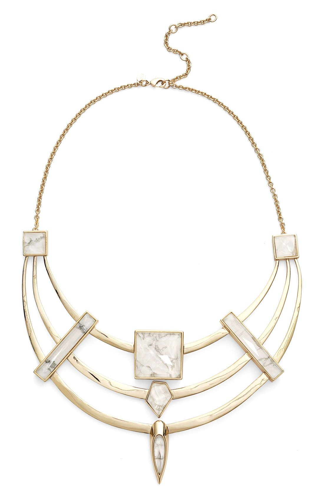 Alternate Image 1 Selected - Alexis Bittar Geometric Square Bib Necklace