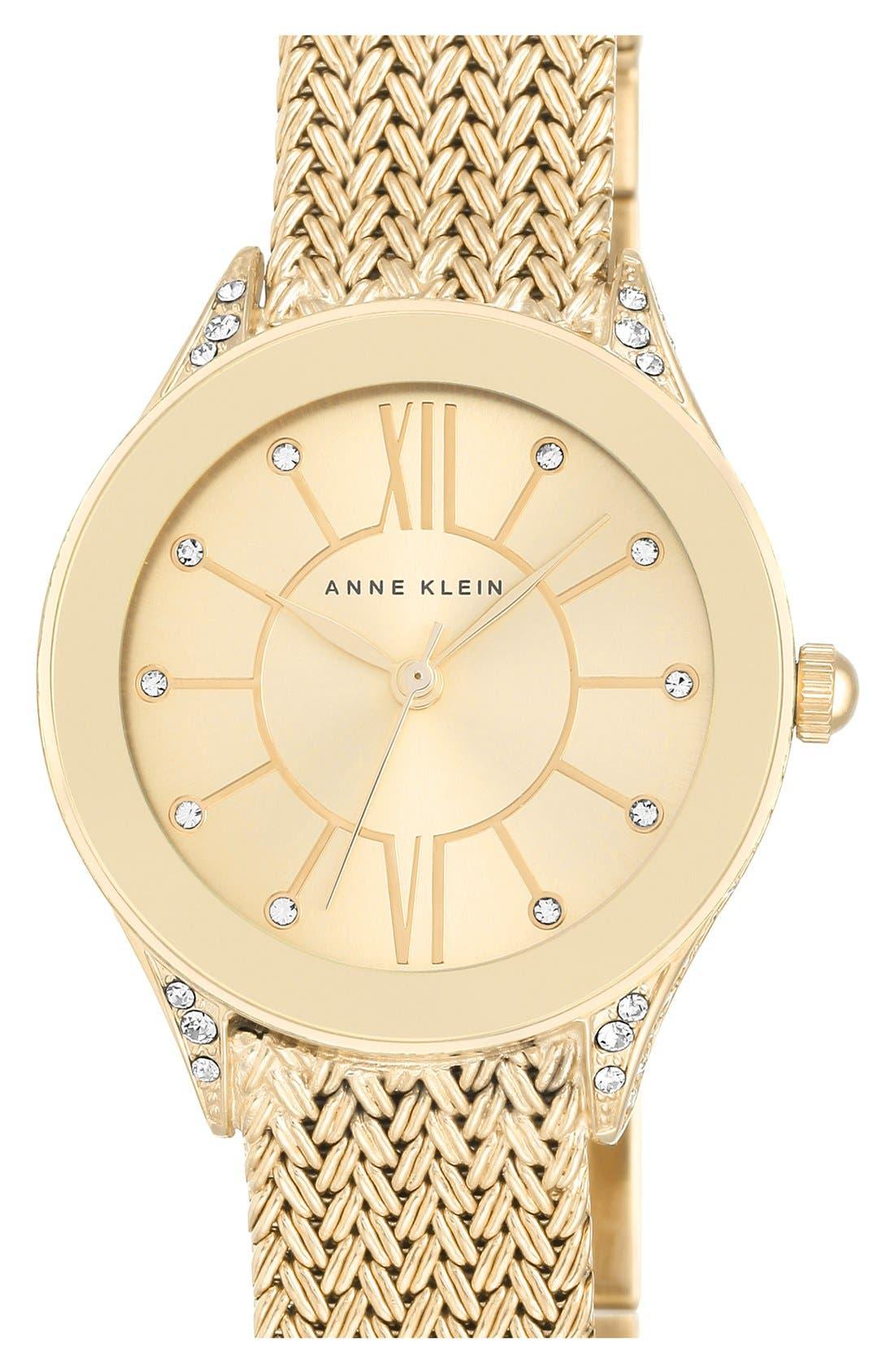 Anne Klein Mesh Strap Watch, 30mm