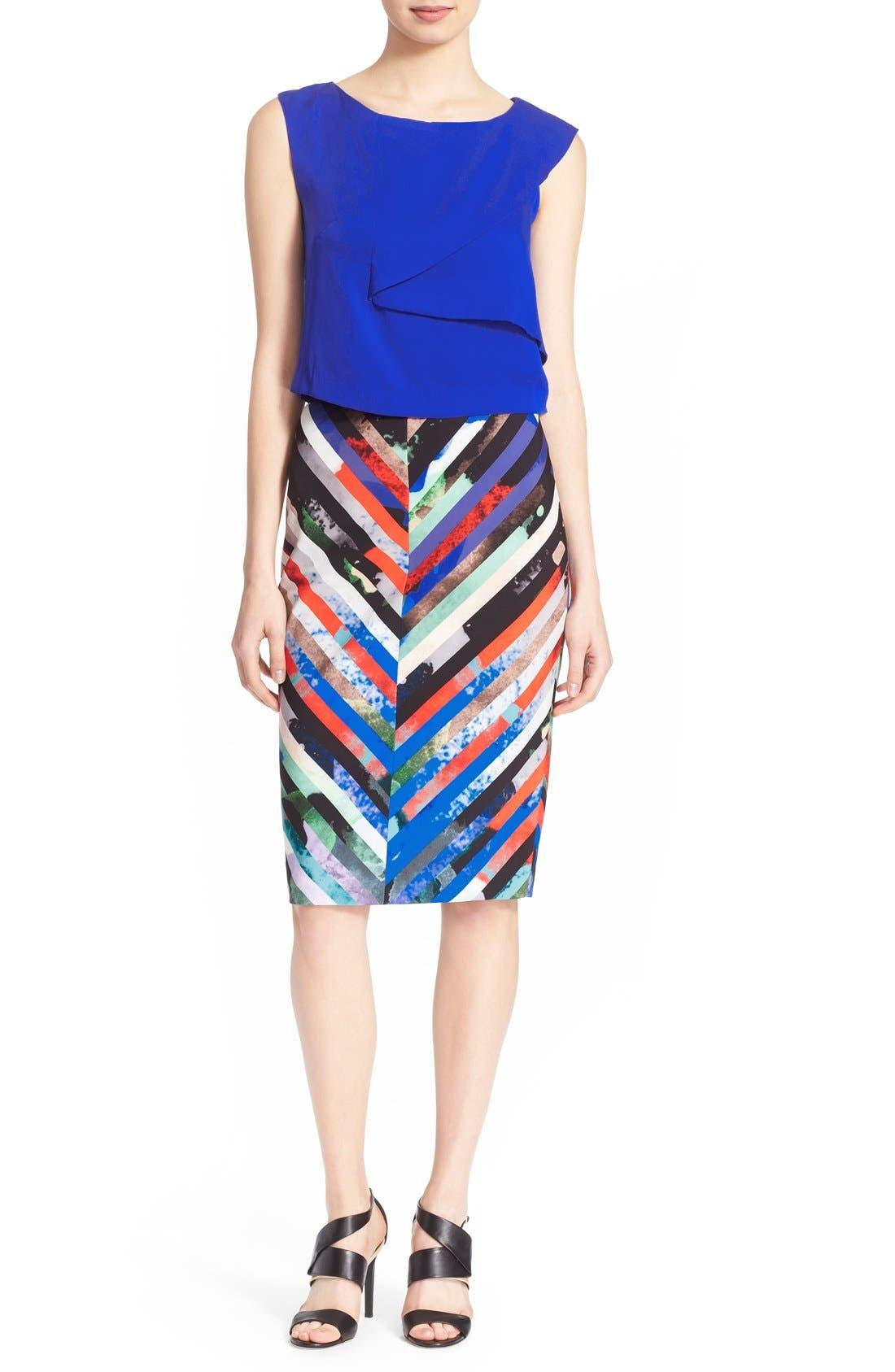 Alternate Image 2  - Milly 'Mirage Stripe' Pencil Skirt