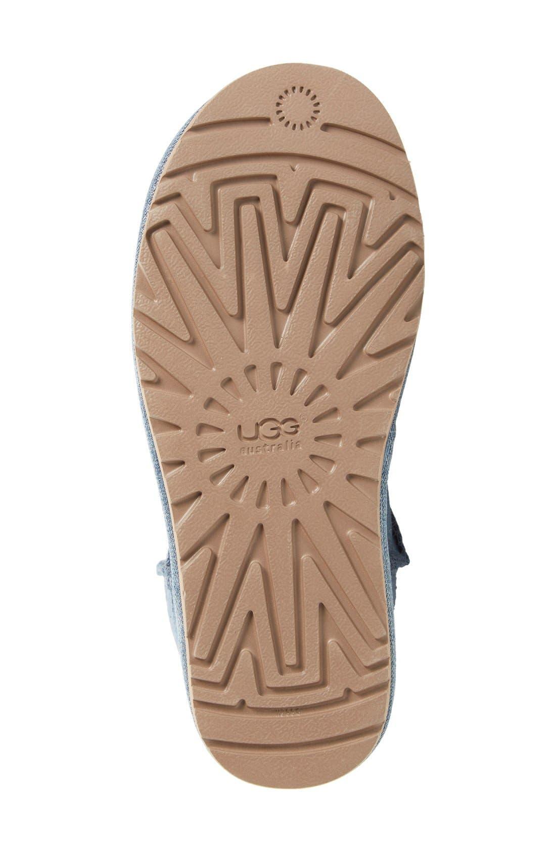 Alternate Image 4  - UGG® 'Classic Short' Denim Boot (Women)