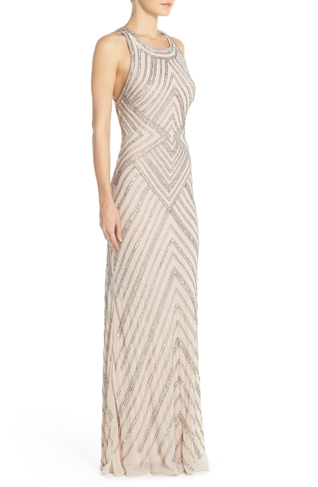 Alternate Image 3  - Adrianna Papell Embellished Cross Back Gown