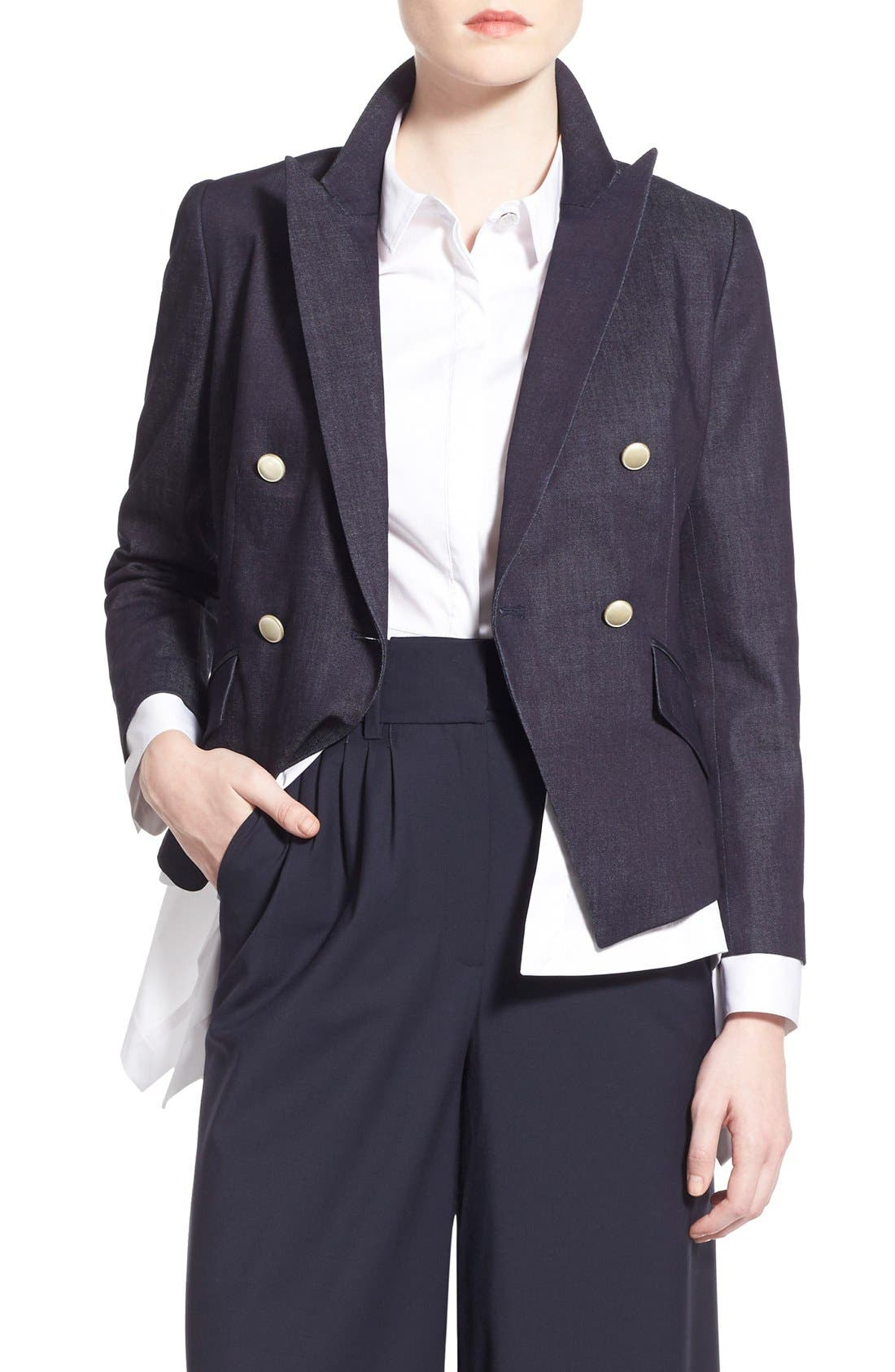 Alternate Image 1 Selected - Olivia Palermo + Chelsea28 Denim Blazer