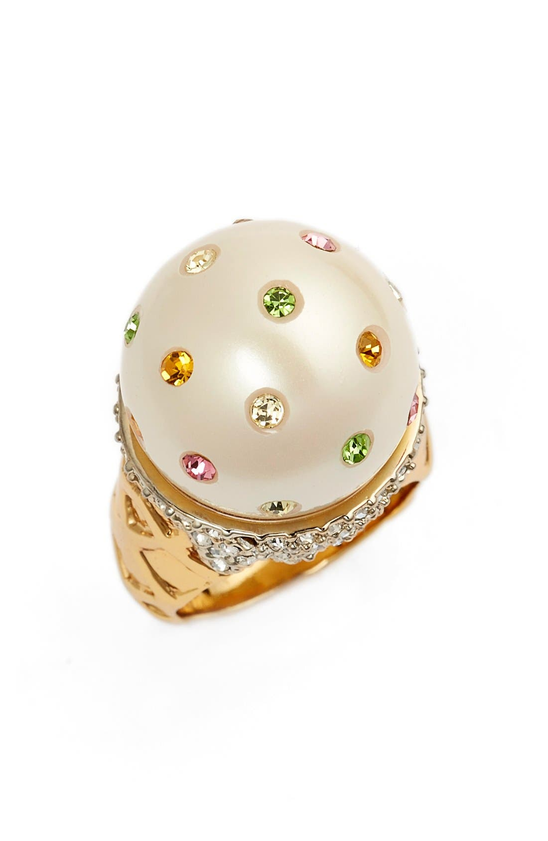 Alternate Image 1 Selected - kate spade new york 'carnival nights - ice cream' faux pearl ring