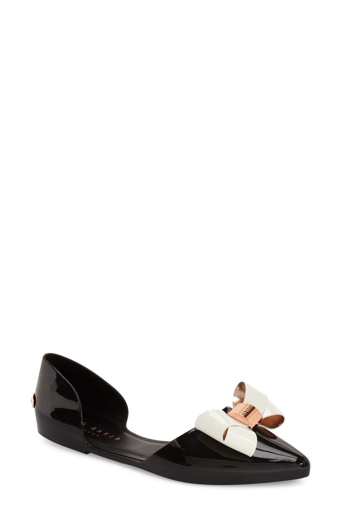 Alternate Image 1 Selected - Ted Baker London 'Tayena' d'Orsay Jelly Flat (Women)