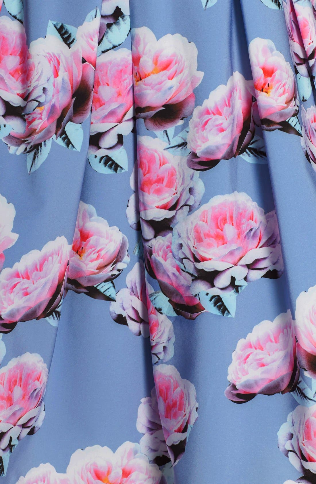 Alternate Image 7  - City Chic 'Powder Posey' Floral Print V-Neck Fit & Flare Dress (Plus Size)