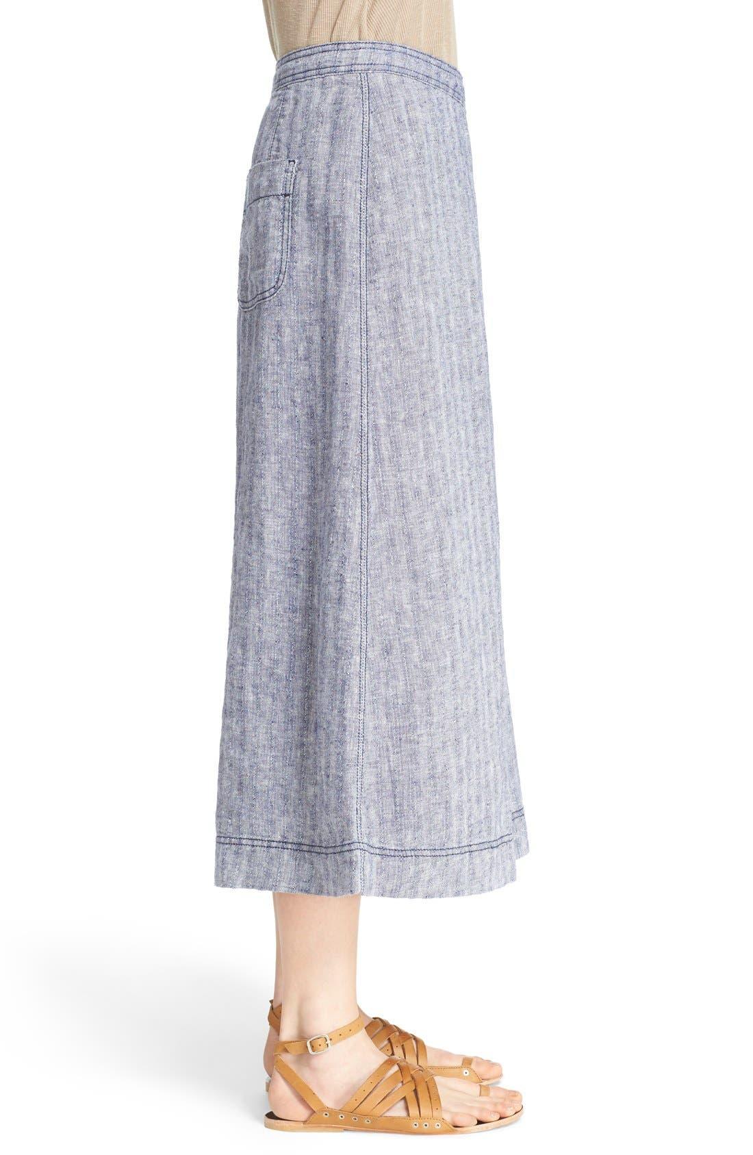Alternate Image 3  - Free People 'Sani' Linen Culottes