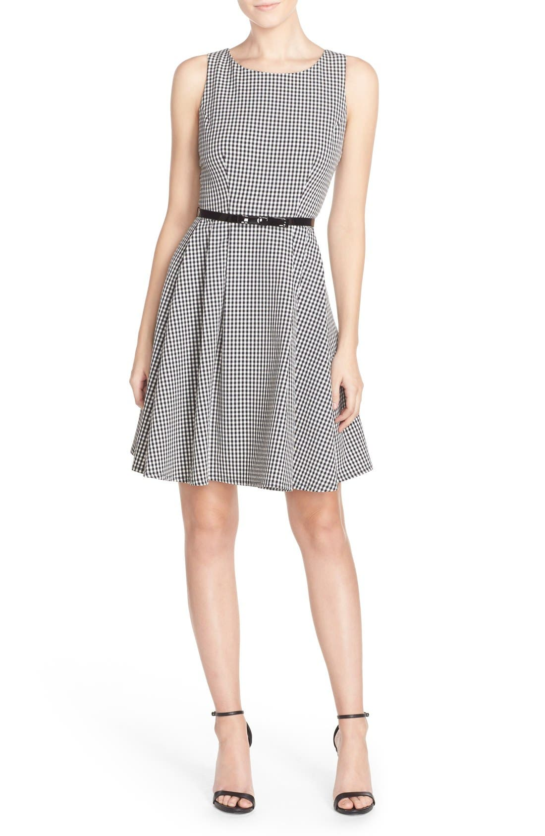 Alternate Image 4  - Gabby Skye Gingham Fit & Flare Dress