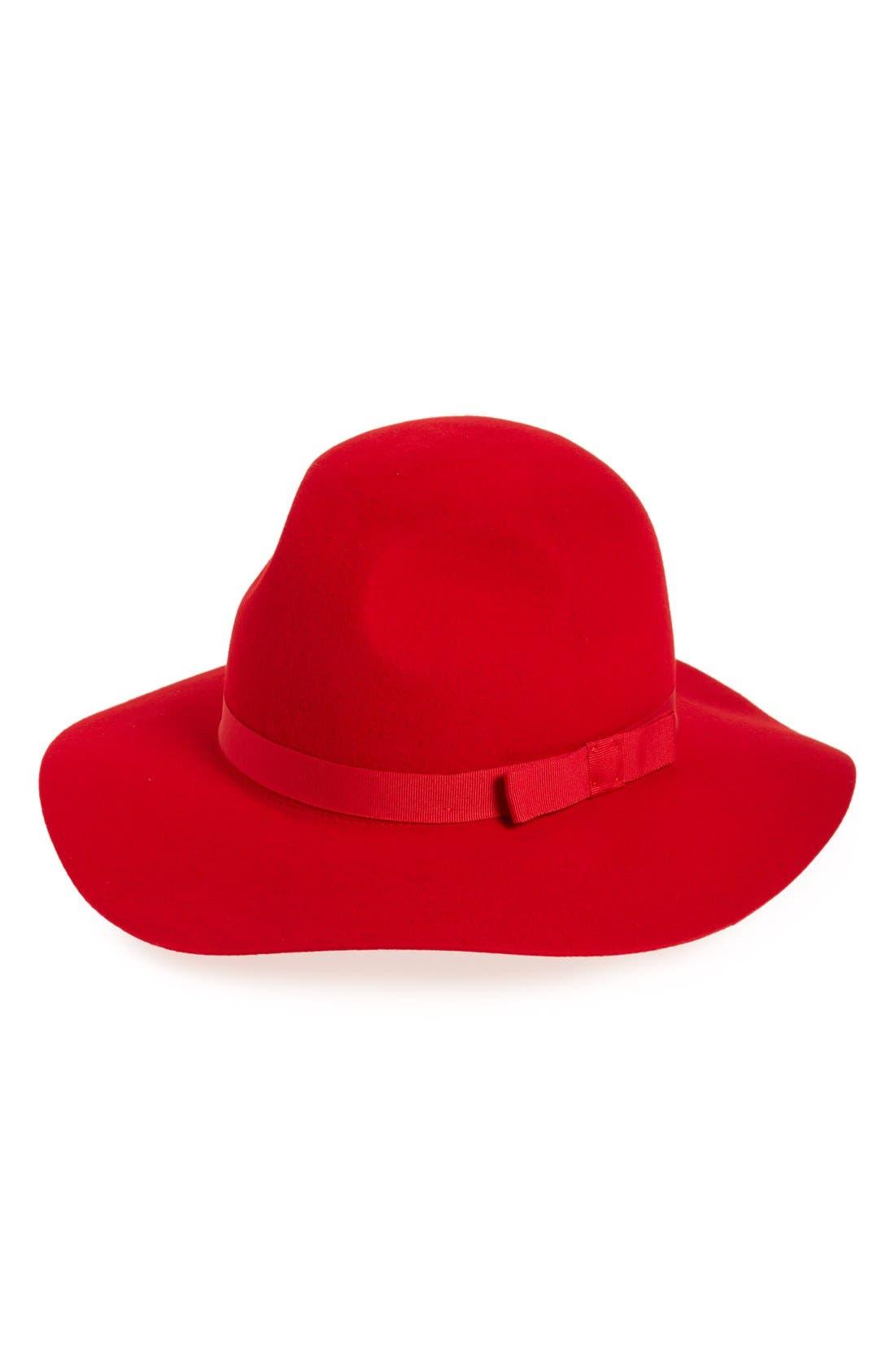 Alternate Image 1 Selected - Brixton 'Dahlia' Floppy Brim Wool Hat