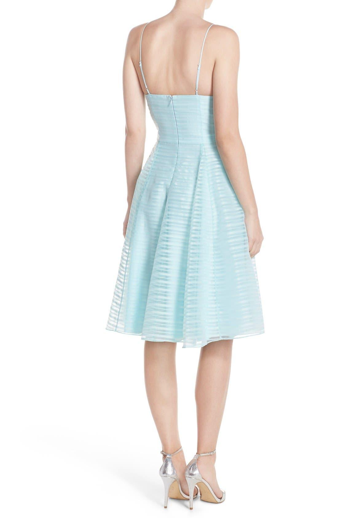 Alternate Image 2  - Halson Heritage Shadow Stripe Organza Dress