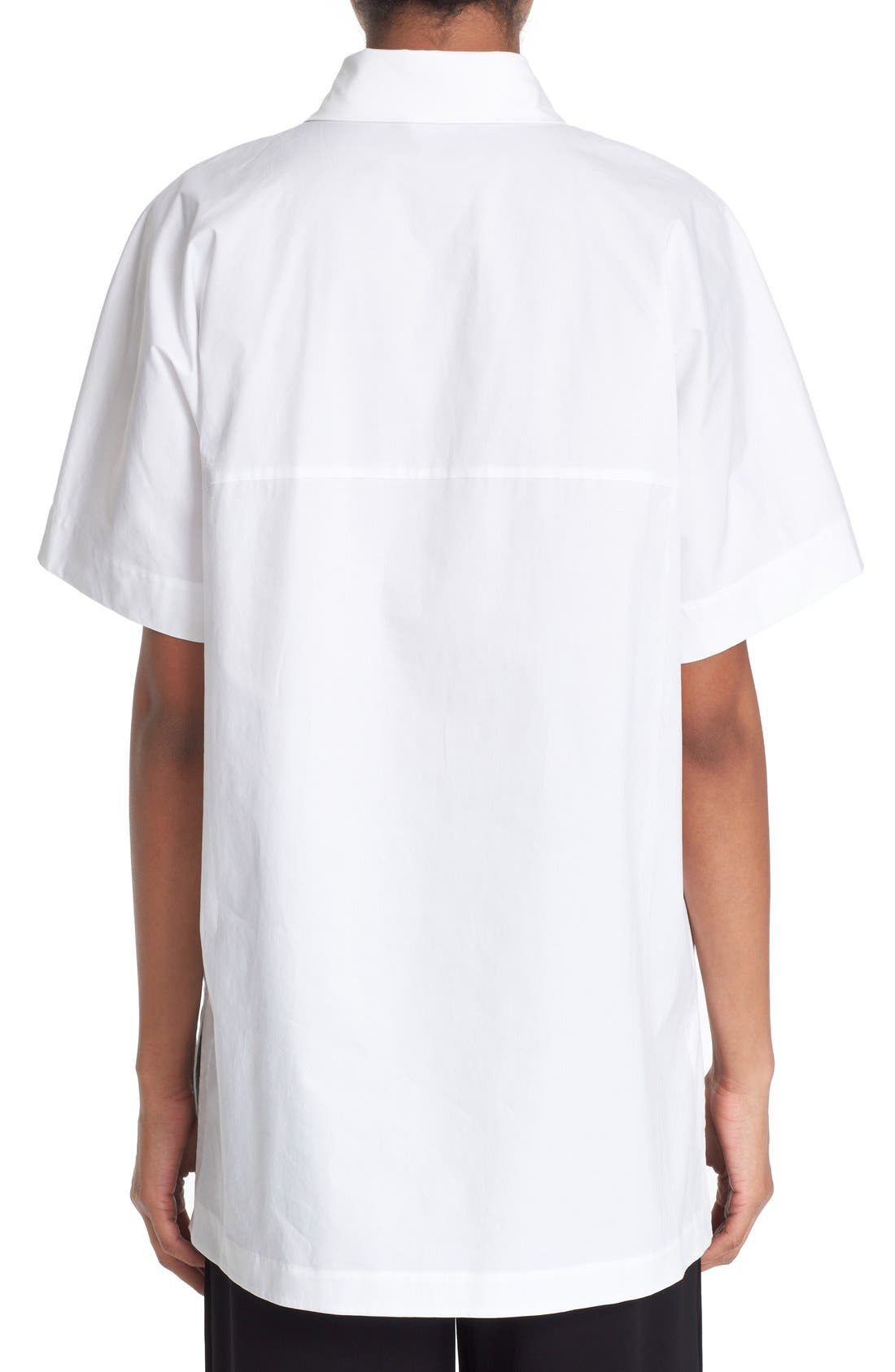 Alternate Image 2  - DKNY Short Sleeve Cotton Shirt