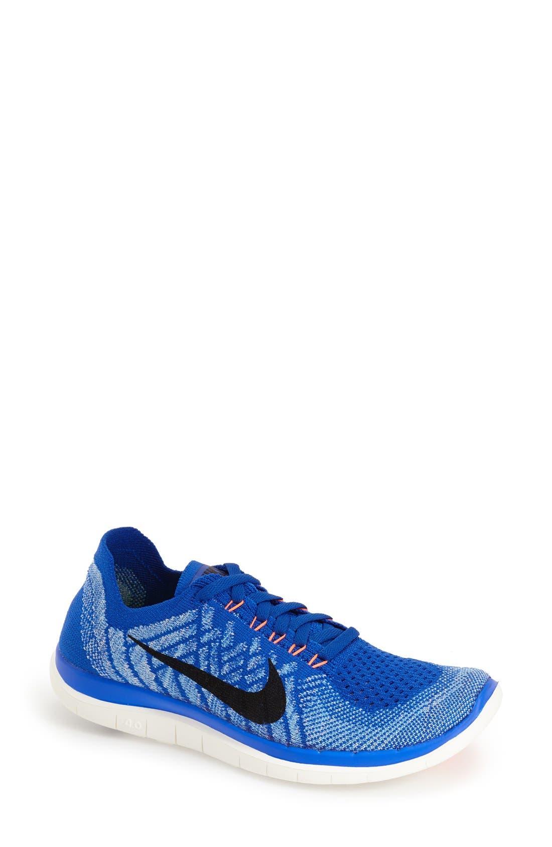 Main Image - Nike 'Free 4.0 Flyknit' Running Shoe (Women)