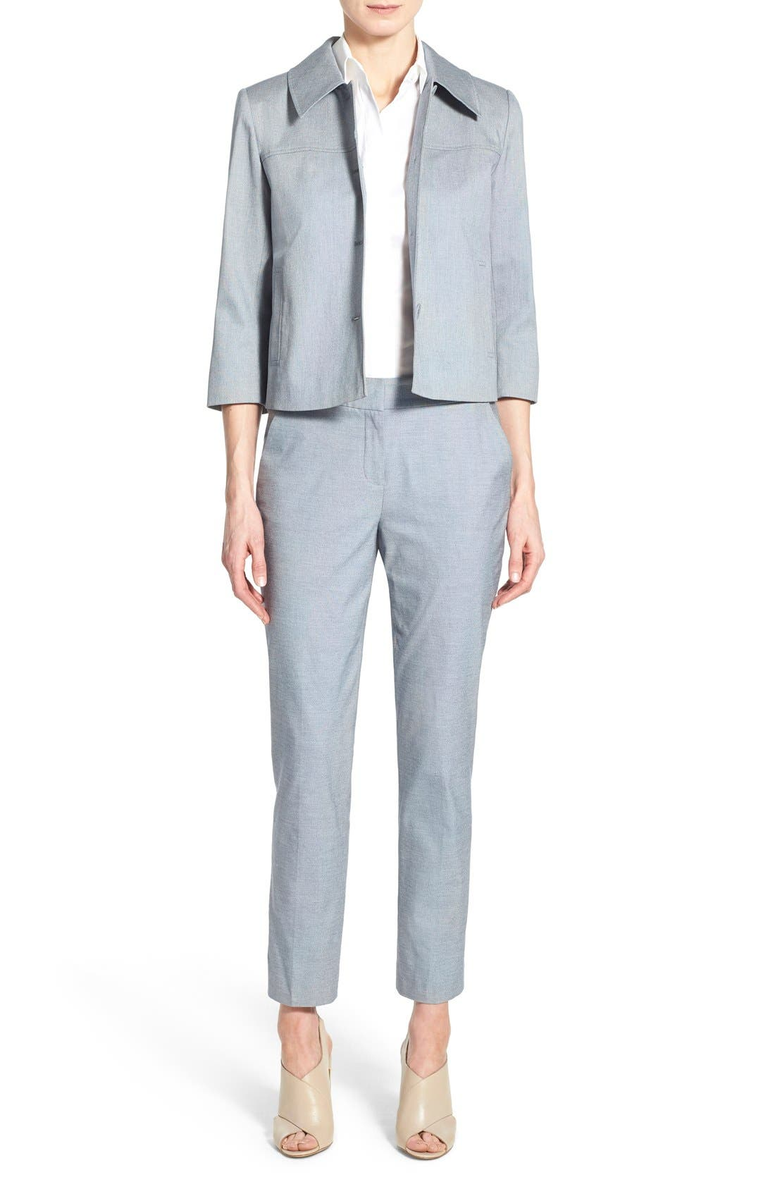 Alternate Image 2  - Nordstrom Collection Stretch Cotton Slim Ankle Pants