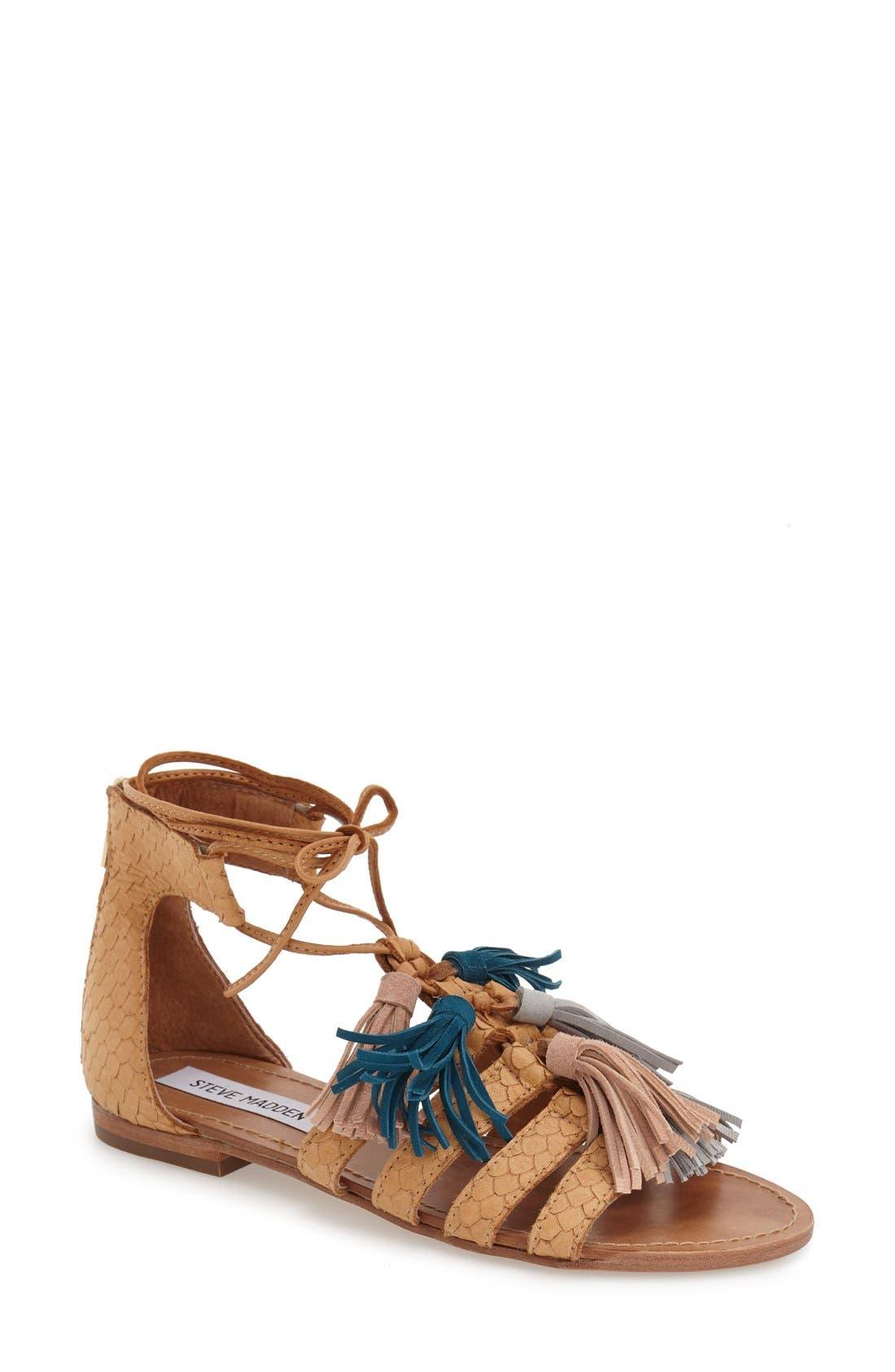 Alternate Image 1 Selected - Steve Madden 'Monrowe' Tassel Sandal (Women)