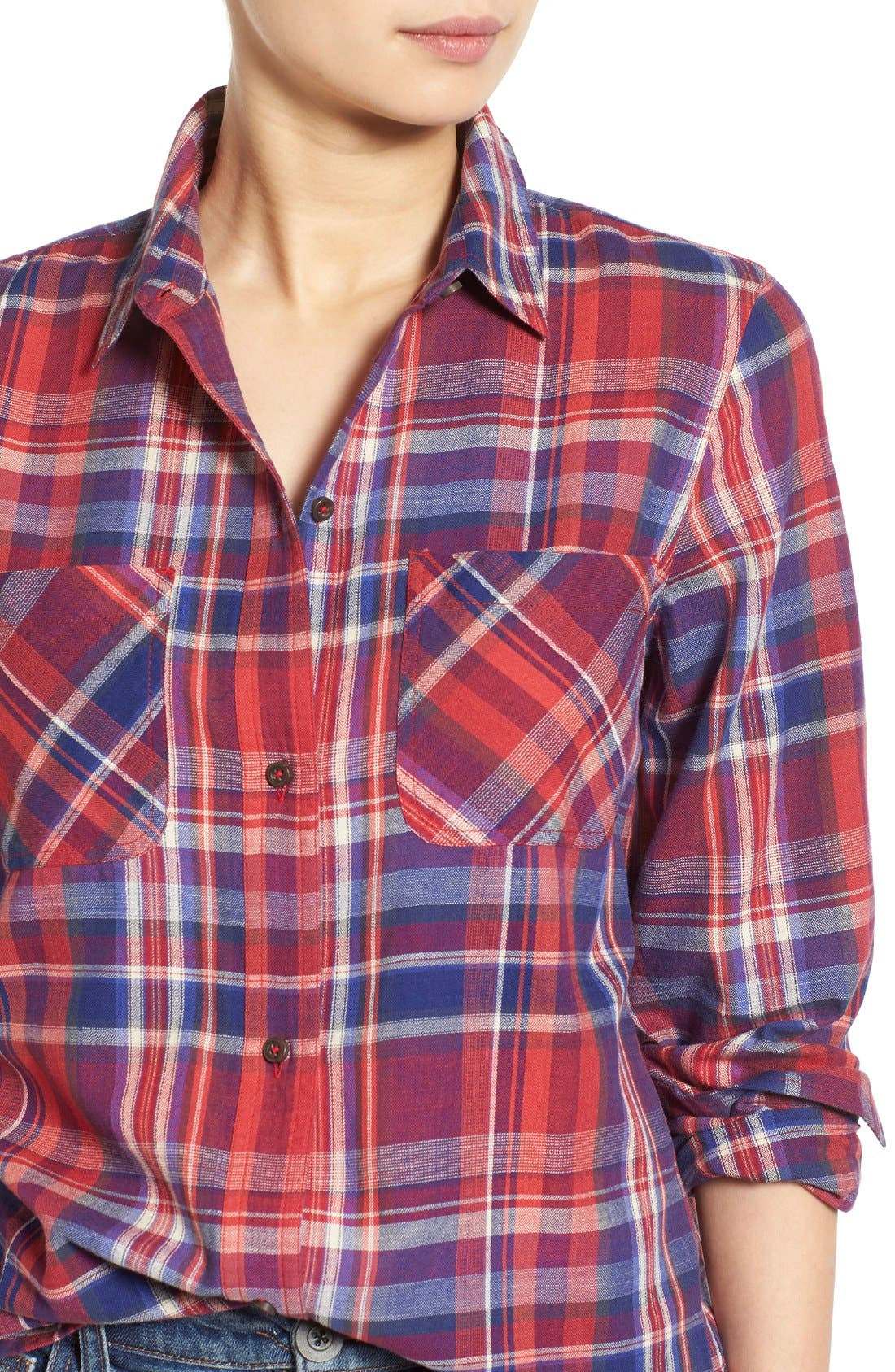 Alternate Image 4  - Madewell 'Ex-Boyfriend - Kentwood Plaid' Shirt