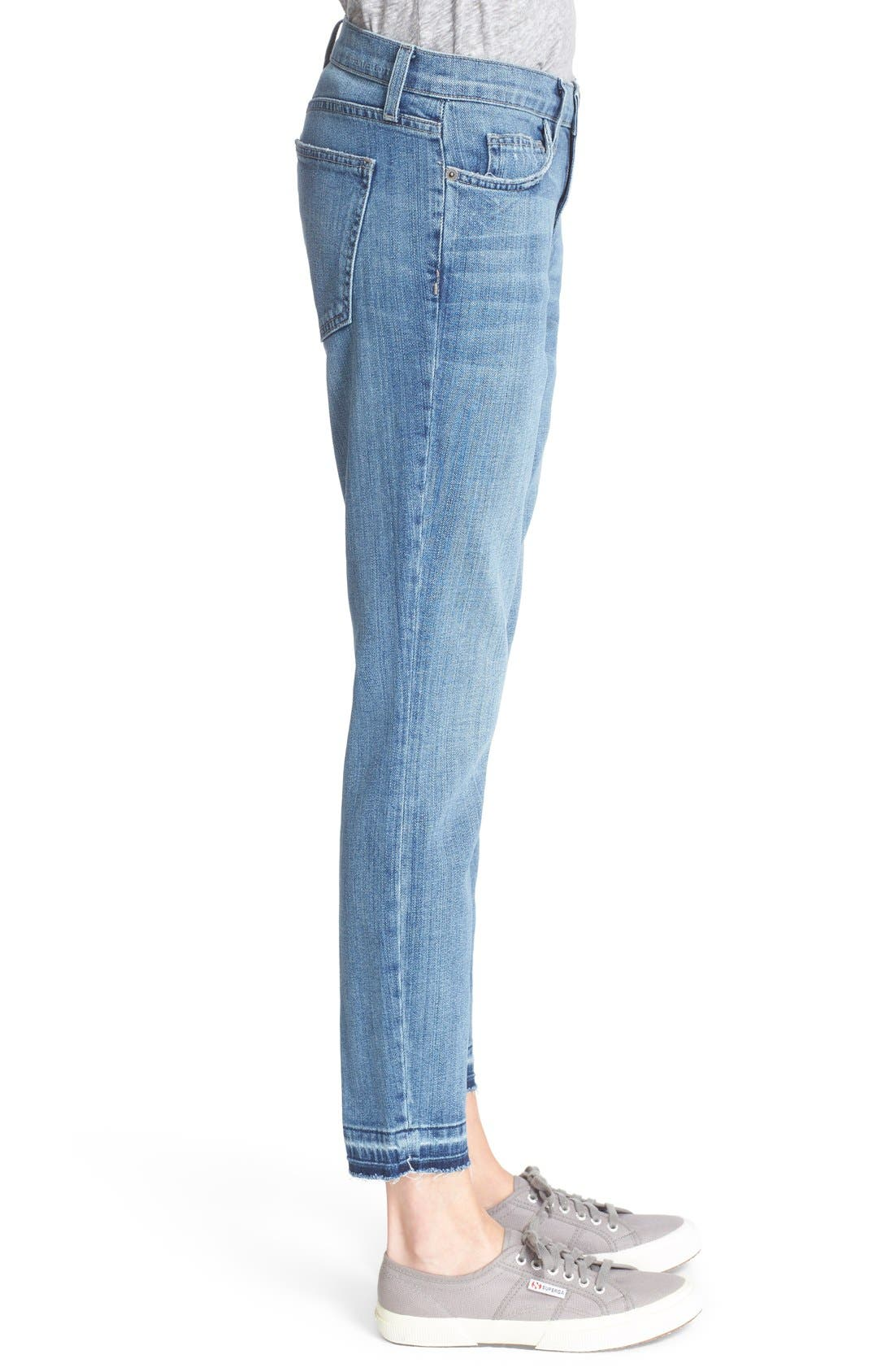 Alternate Image 3  - Current/Elliott 'The Stiletto' Stretch Jeans (Amour Released Hem)