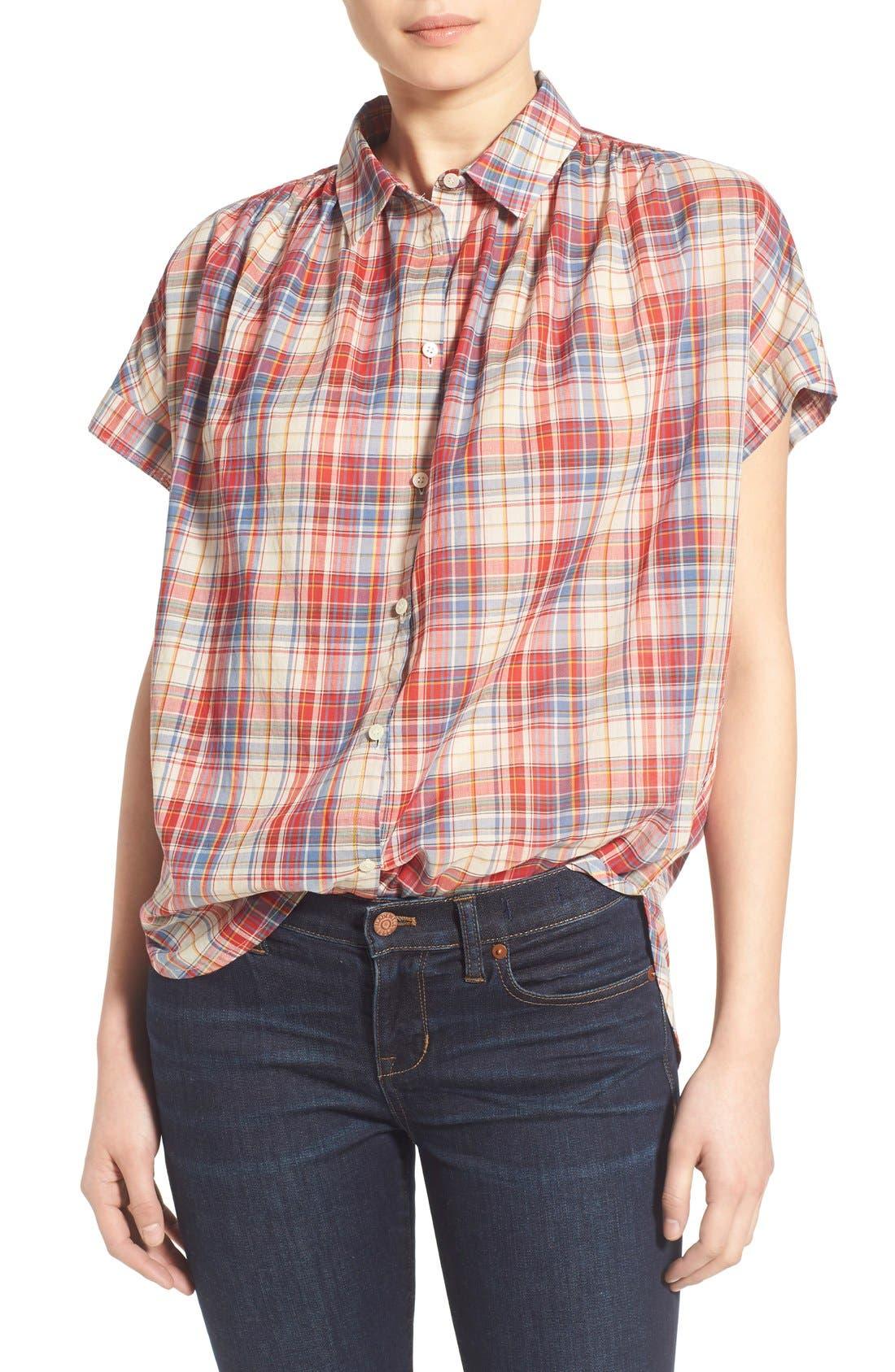 Alternate Image 1 Selected - Madewell Plaid Boxy Cotton Shirt