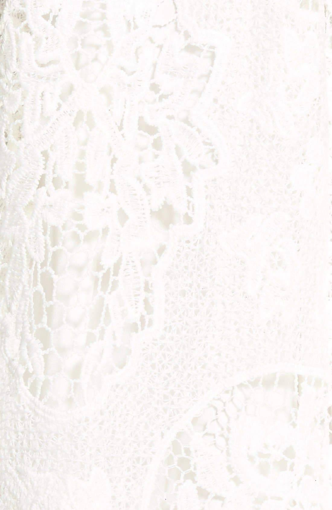 Alternate Image 5  - Soloiste Strapless Lace Skater Dress
