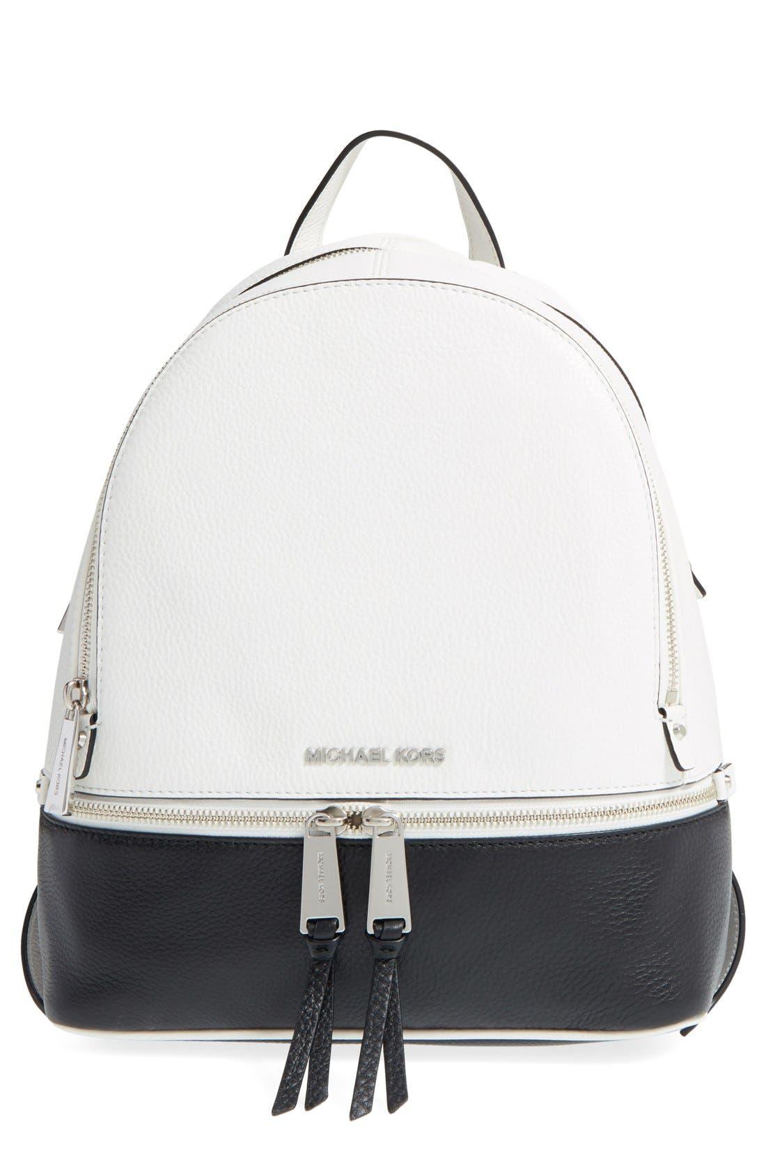 Alternate Image 1 Selected - MICHAEL Michael Kors 'Small Rhea' Leather Backpack