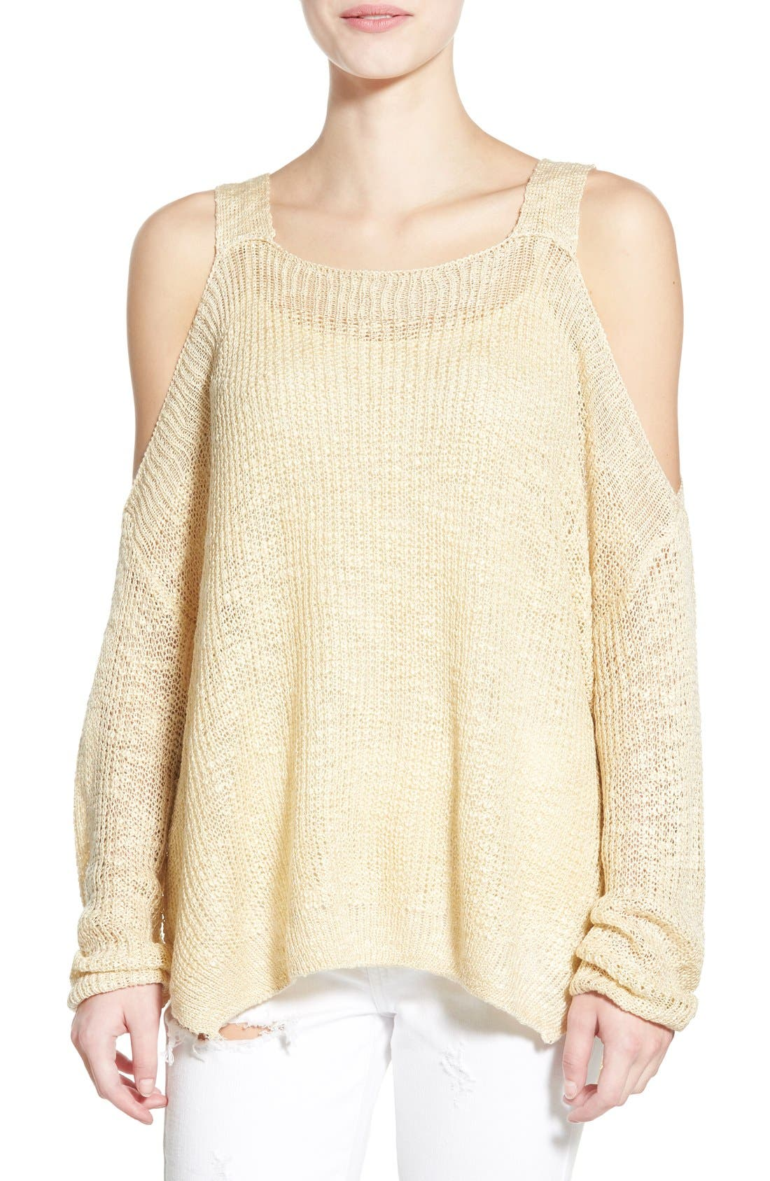 Main Image - Dreamers by Debut Cold Shoulder Pullover
