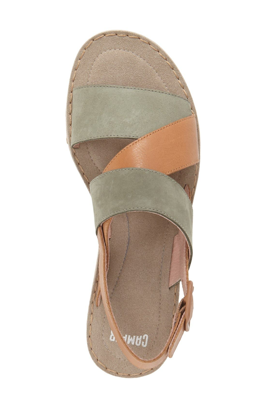 Alternate Image 3  - Camper 'Pimpom' Leather & Suede Crisscross Strap Sandal (Women)