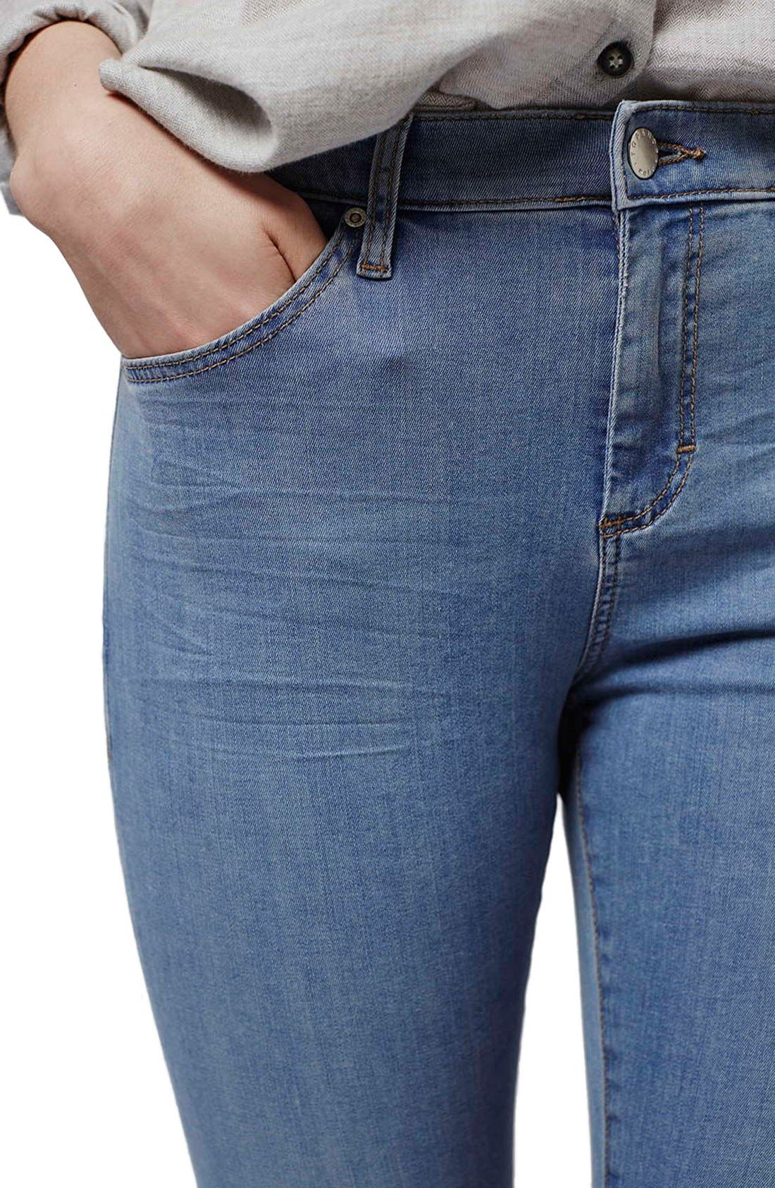 Alternate Image 5  - Topshop 'Leigh' Ankle Skinny Jeans (Petite)
