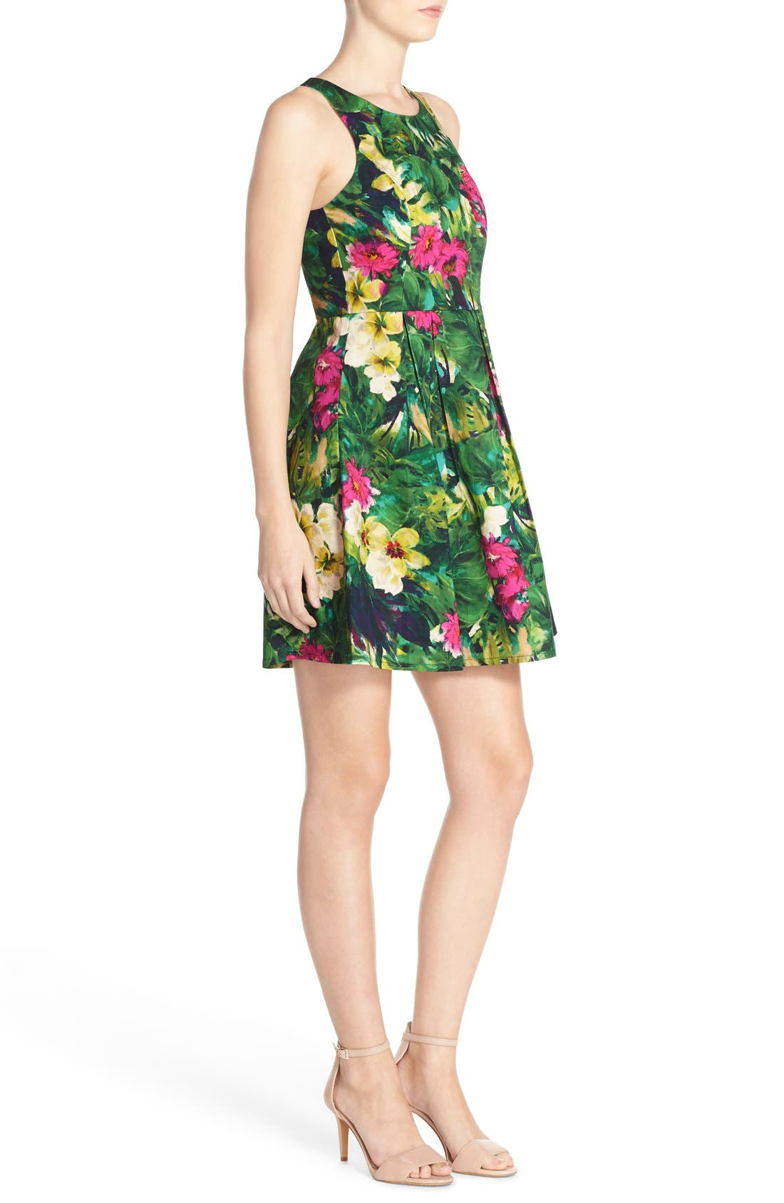 Alternate Image 3  - Felicity & Coco Floral Print Fit & Flare Dress (Regular & Petite) (Nordstrom Exclusive)
