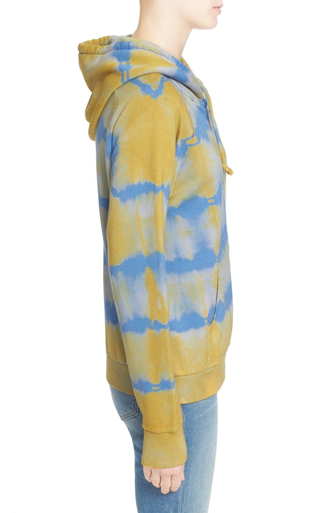 Alternate Image 5  - Saint Laurent Destroyed Tie Dye Cotton Hoodie