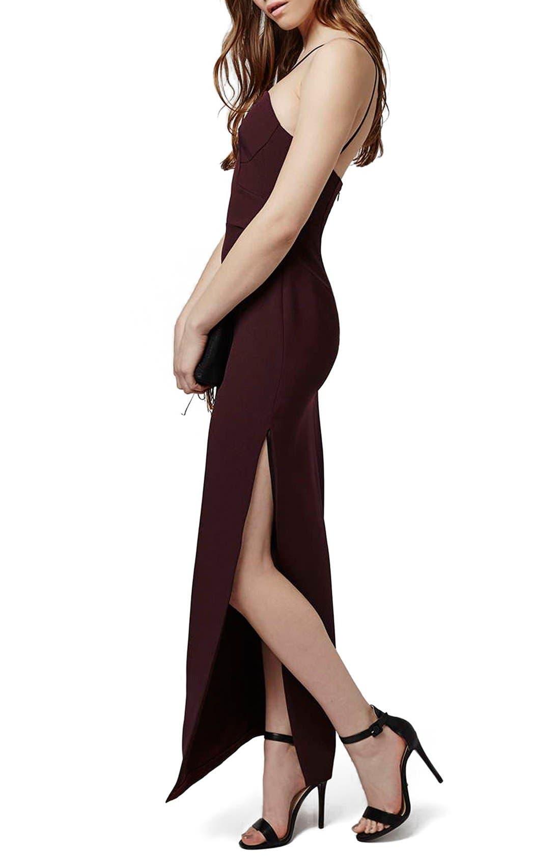 Main Image - Topshop Strappy Column Maxi Dress