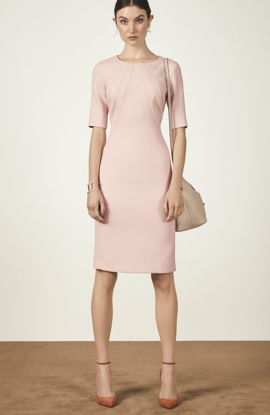 Alternate Image 6  - Eliza J Crepe Sheath Dress (Regular & Petite)