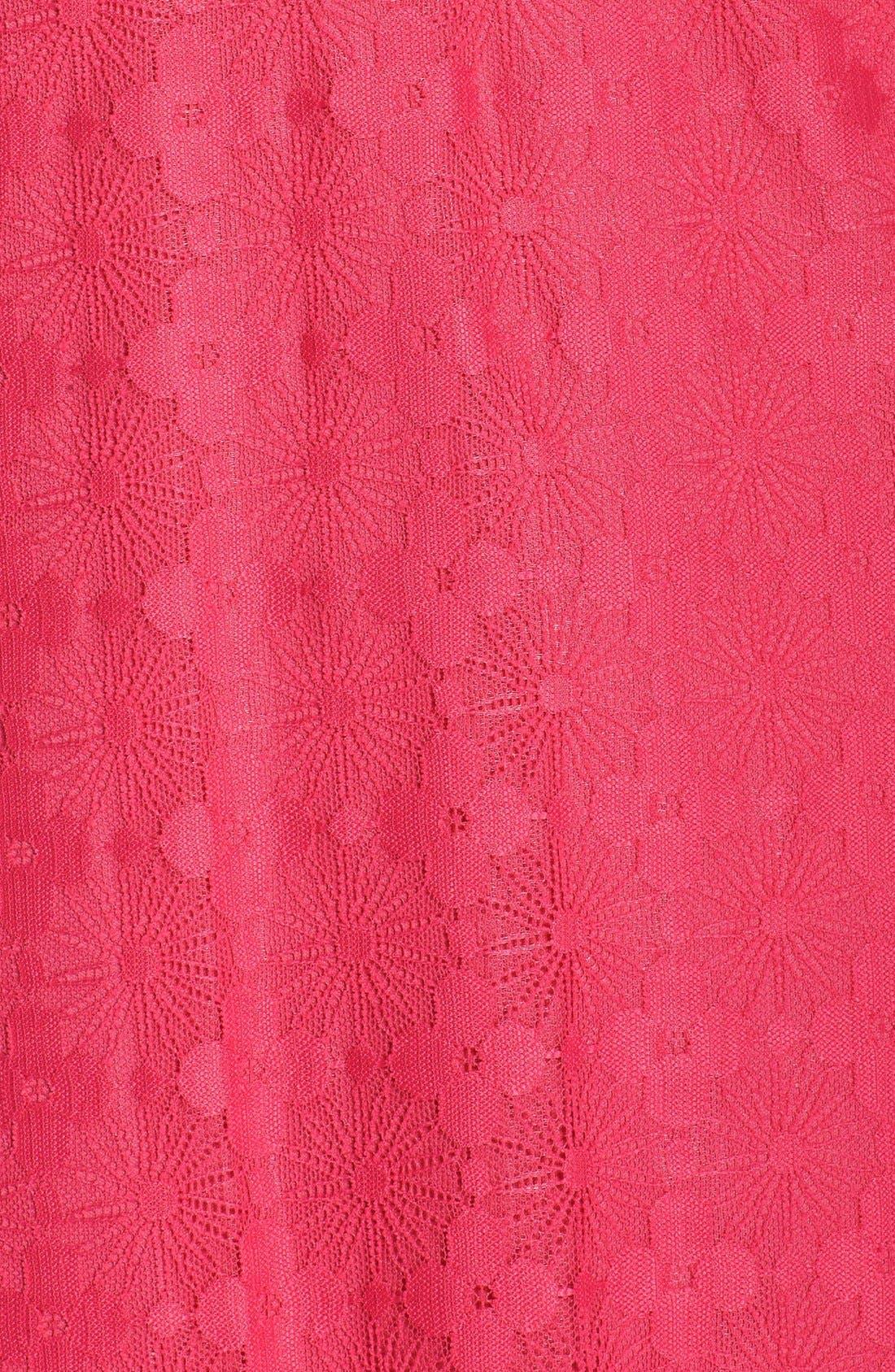 Alternate Image 6  - London Times Floral Lace Shift Dress