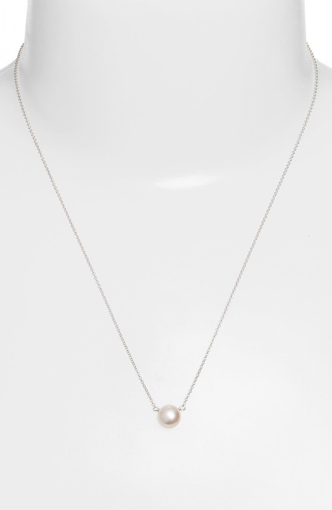 Alternate Image 3  - Dogeared 'I Love Mom' Pearl Pendant Necklace