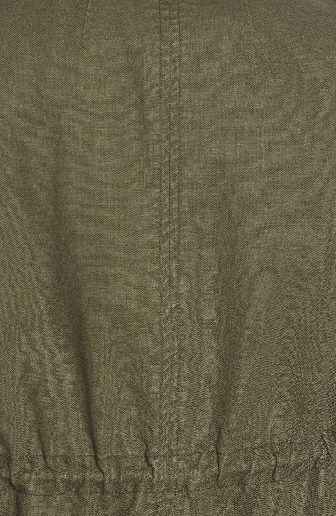 Alternate Image 5  - Pleione Linen & Cotton Blend Military Jacket (Regular & Petite)