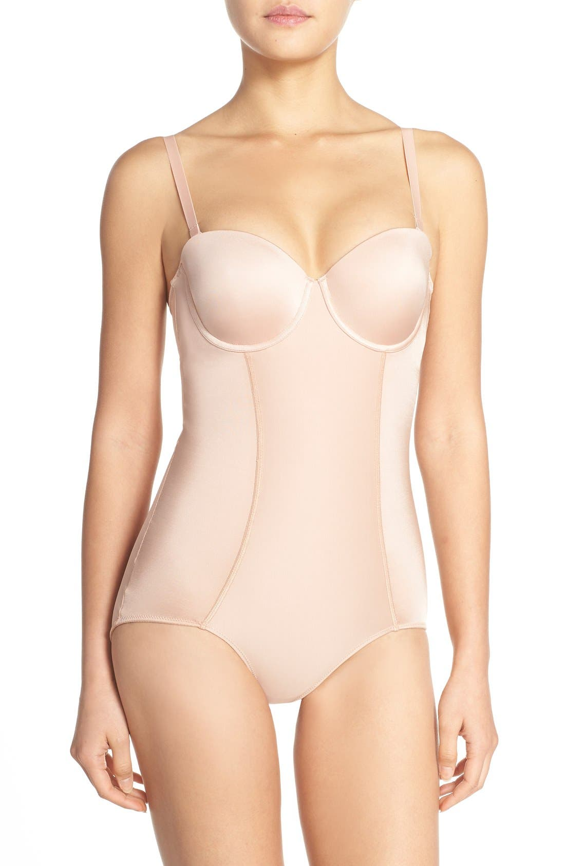 Alternate Image 1 Selected - SPANX® Boostie-Yay Slimming Bodysuit with Bra Top