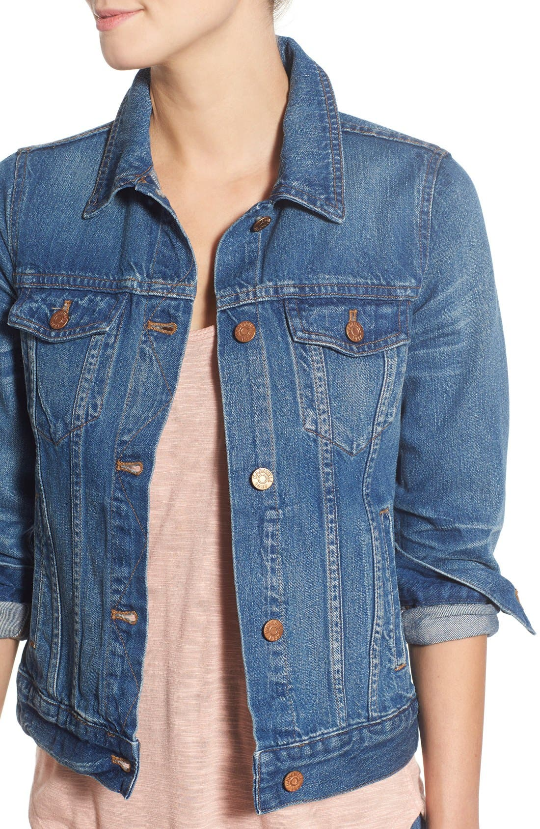 Alternate Image 4  - Madewell Jean Jacket (Pinter Wash)