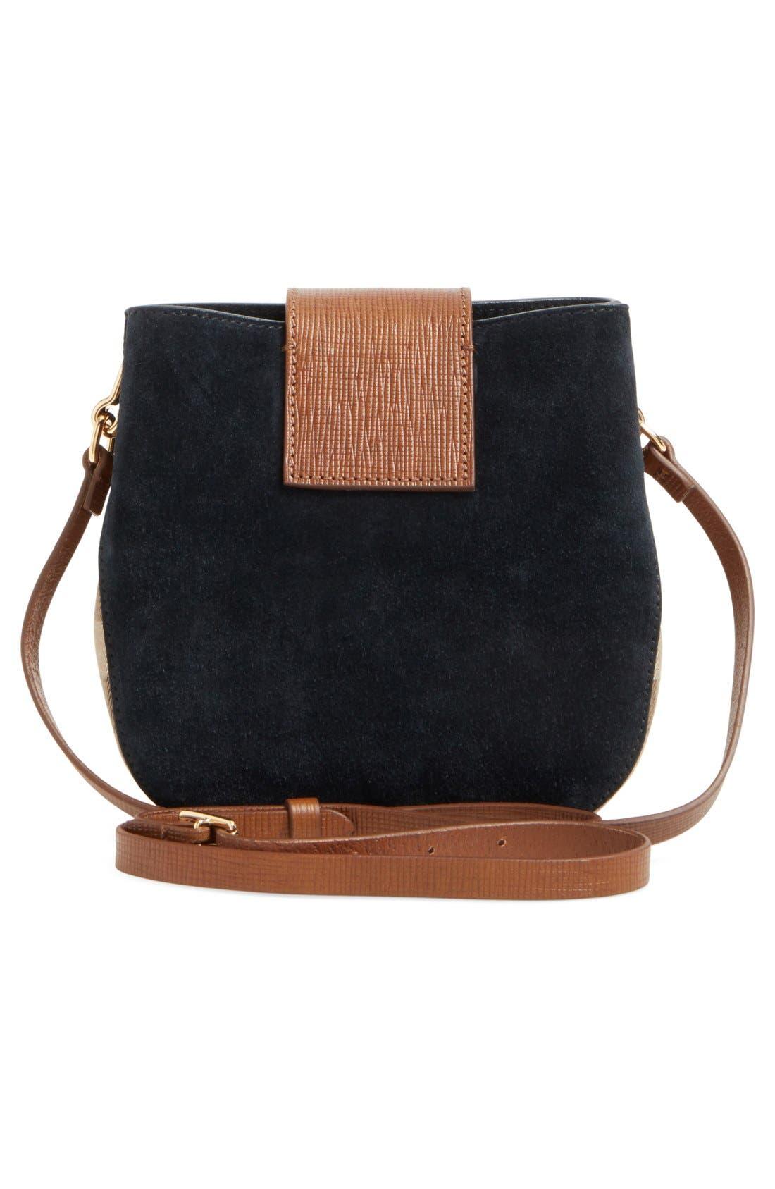 Alternate Image 3  - Burberry Suede & Canvas Convertible Crossbody Bag