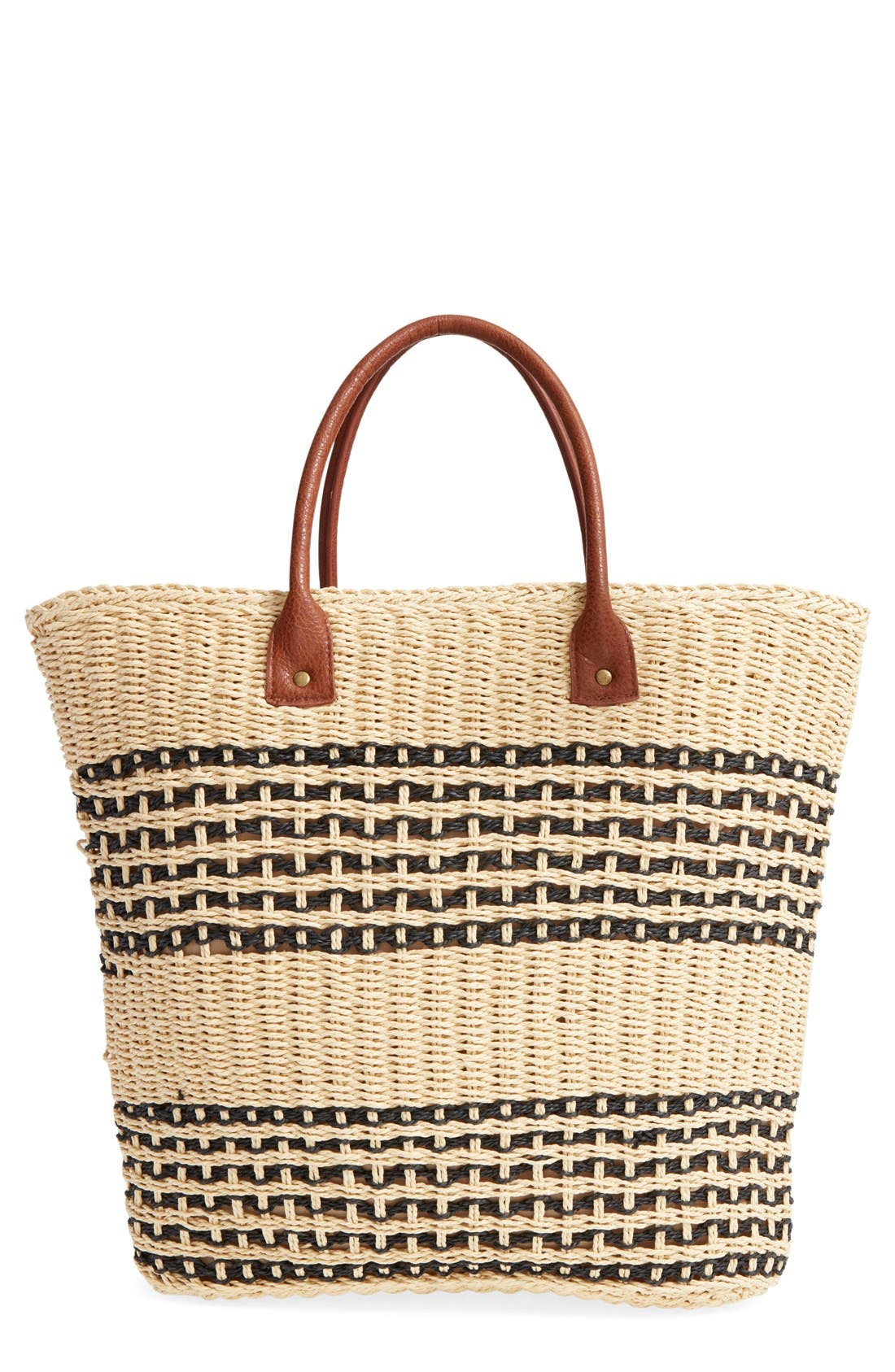 Alternate Image 1 Selected - San Diego Hat Stripe Straw Tote