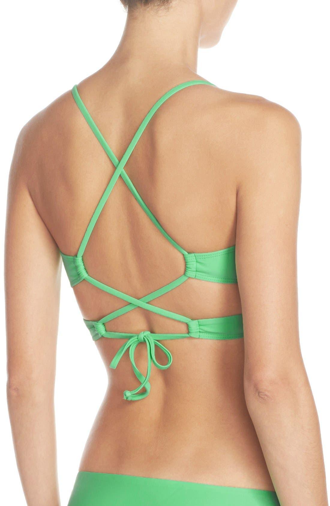 Alternate Image 3  - BCA Cross Back Wrap Bikini Top