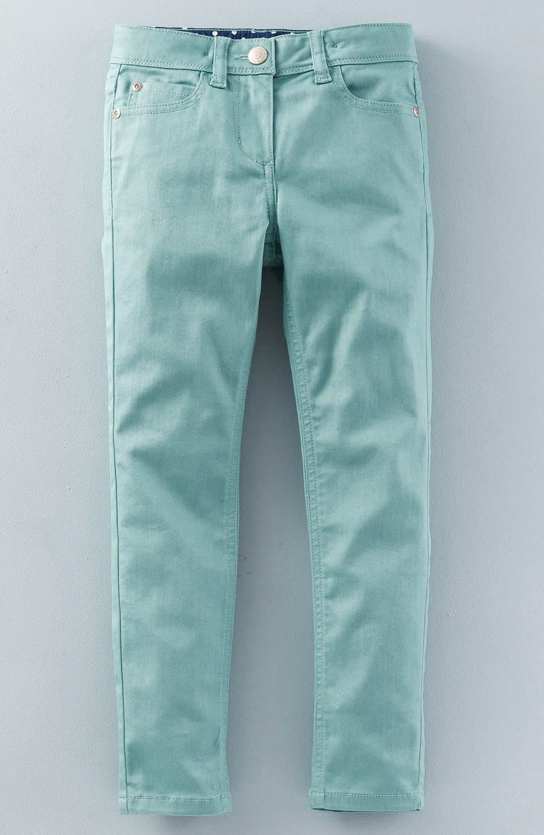 Alternate Image 1 Selected - Mini Boden Super Skinny Fit Jeans (Toddler Girls, Little Girls & Big Girls)