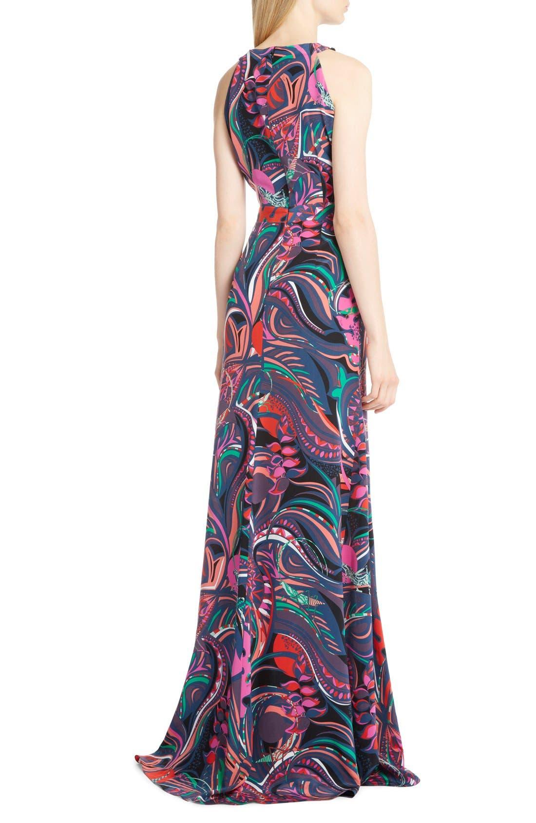 Alternate Image 2  - Emilio Pucci Print Silk Halter Gown