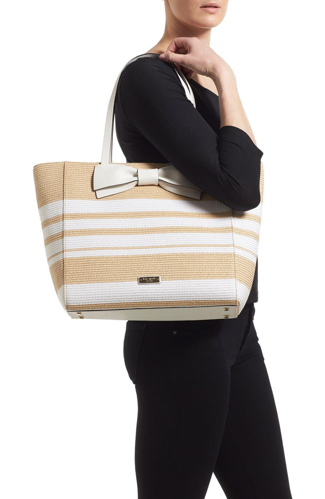 Alternate Image 2  - kate spade new york 'clement street - blair' woven straw tote