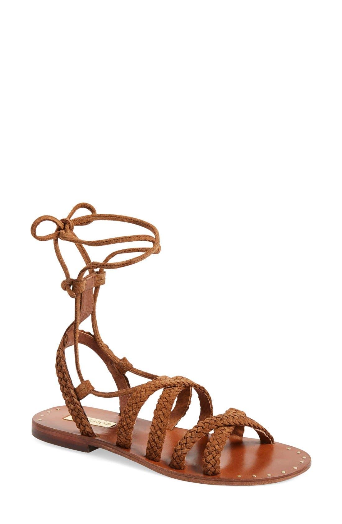 Alternate Image 1 Selected - Topshop 'Farewell' Gladiator Sandals (Women)