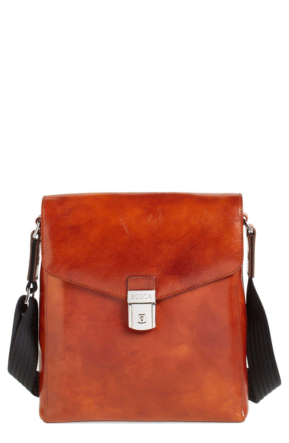 Bosca 'Man Bag' Leather Crossbody Bag