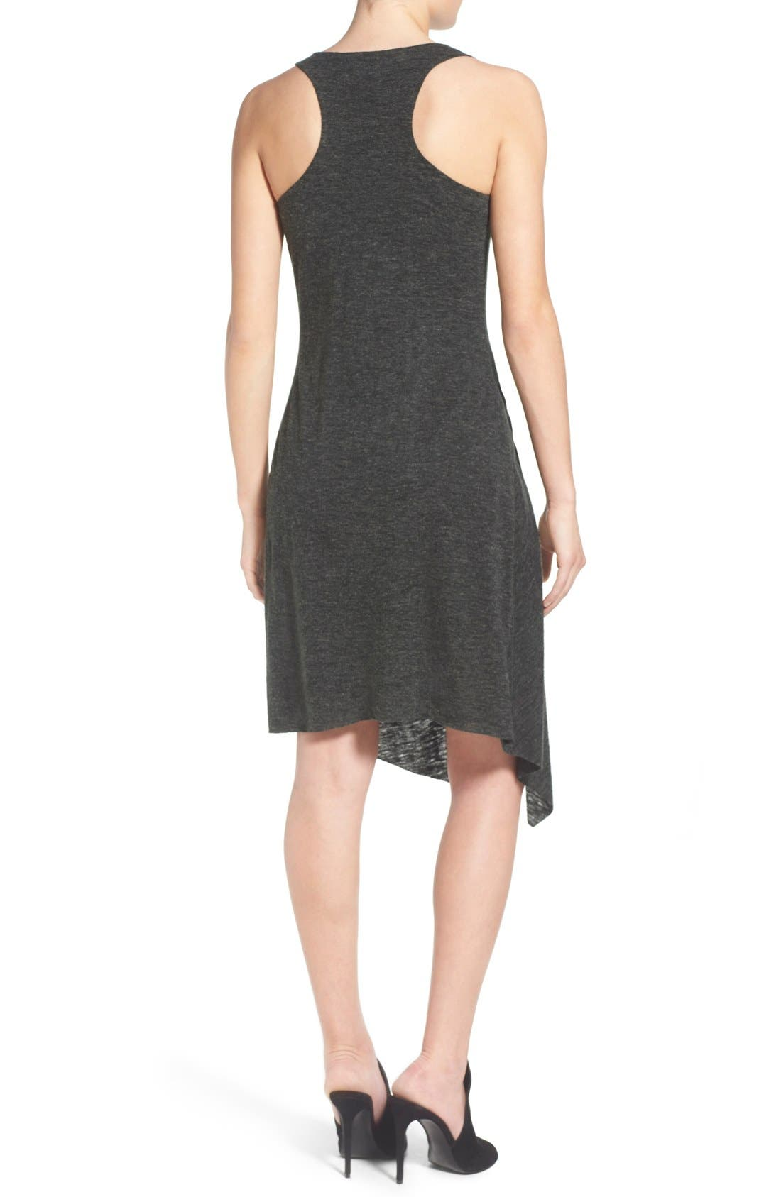 Alternate Image 2  - KENDALL + KYLIE Raw Edge Jersey Racerback Dress